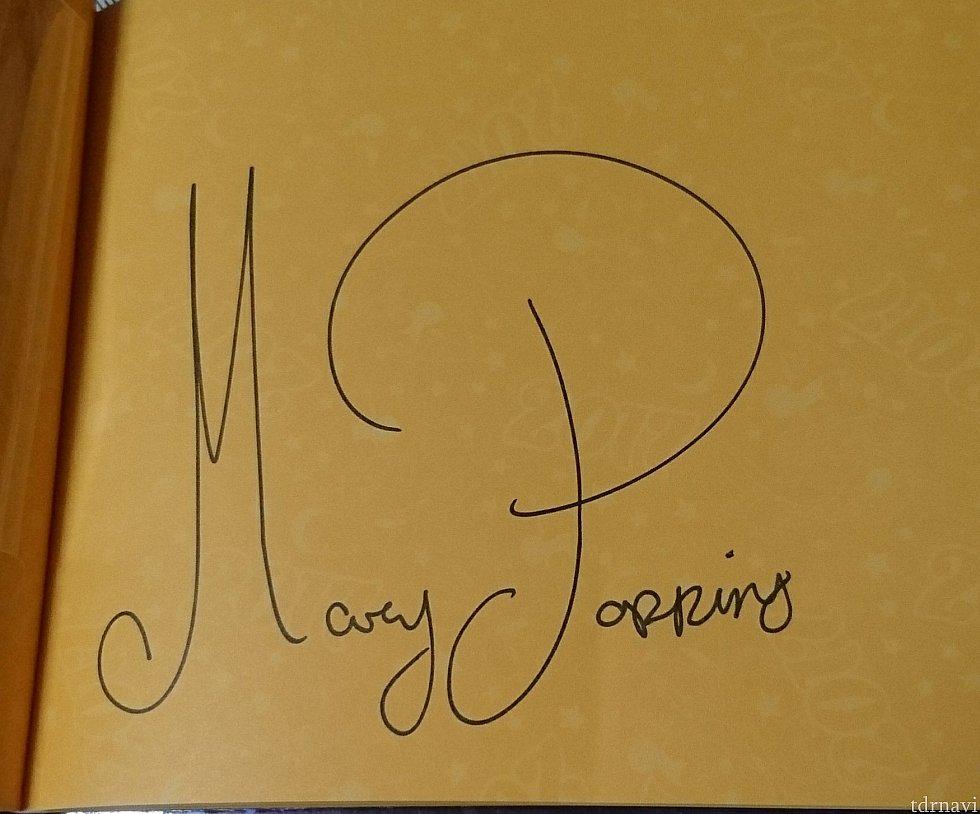 メリー・ポピンズのサインです♪