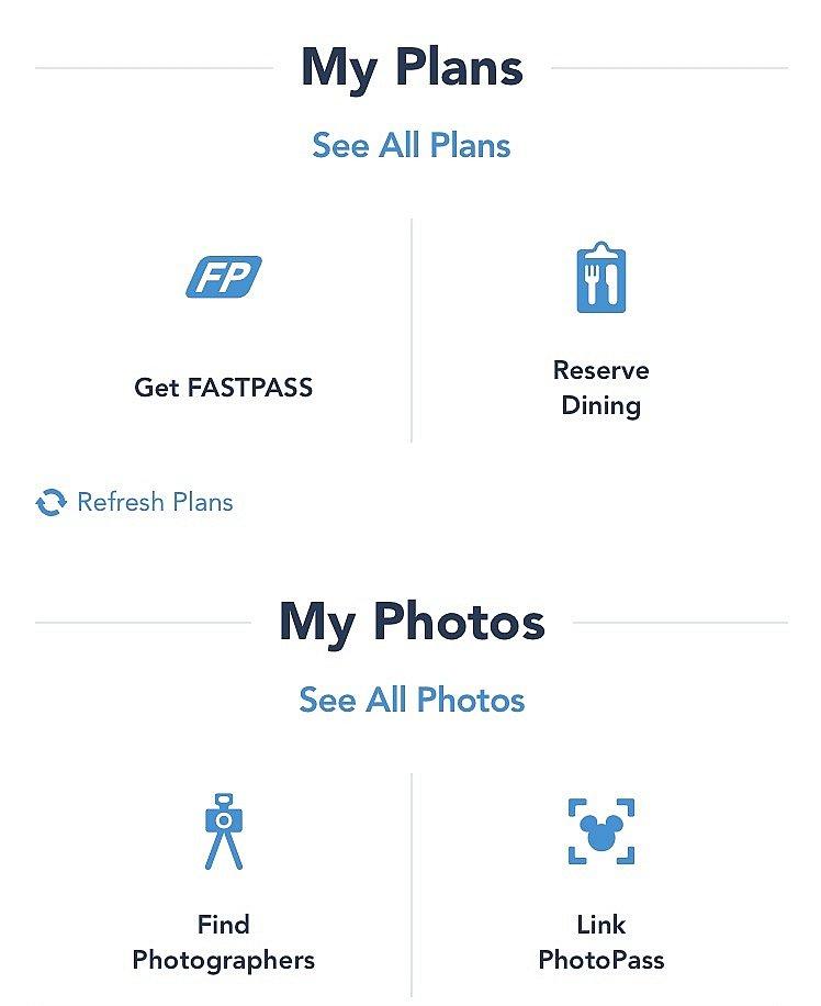 左上のアイコンでマックスパスの購入とファストパスの発券、右下のアイコンでフォトパスの読込が出来ます