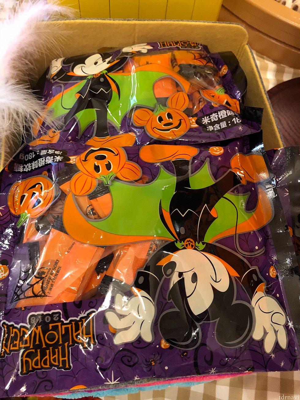 ハロウィンのグミは一袋29元 去年配ってたのと同じ!?