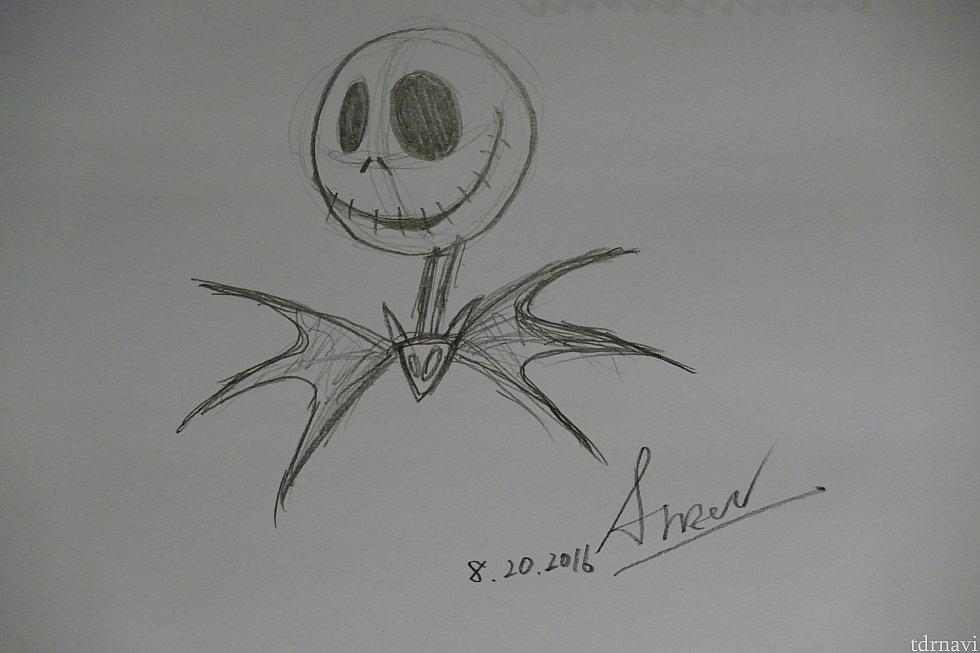 こちら私が描いたジャック!いっちょまえにサインとか描いちゃった!