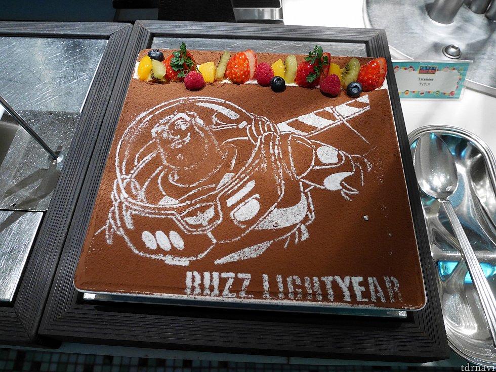 【デザート】バズーが描かれたティラミス💕満腹でも美味しいって感じられるウマさ✨