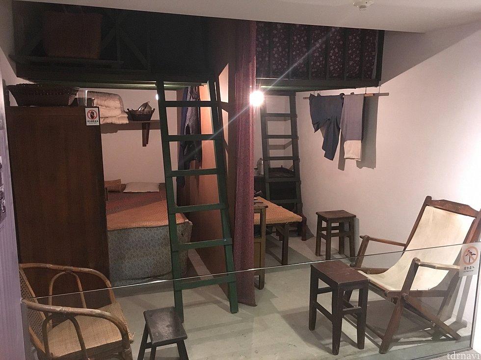 1960年代の2家族5人で暮らしていたお部屋。ここ5人は中々だなぁ