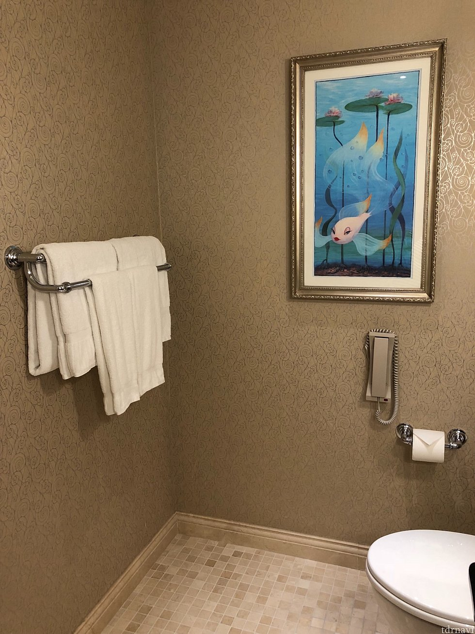 壁にはタオル類