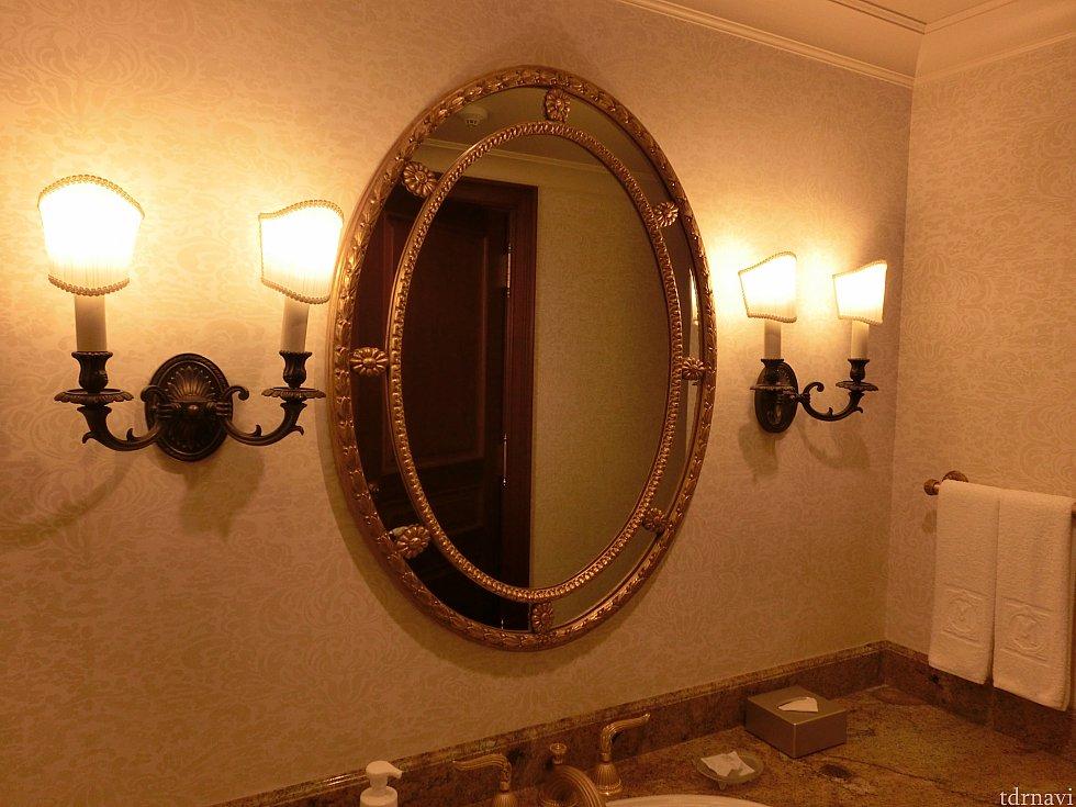 洗面台の鏡。2つあったはずです