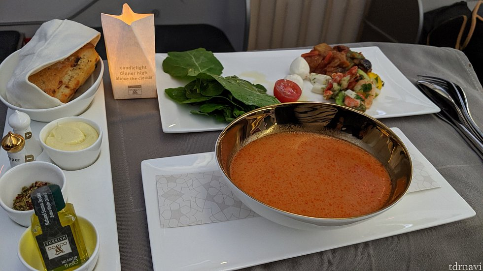 アペタイザーとスープ