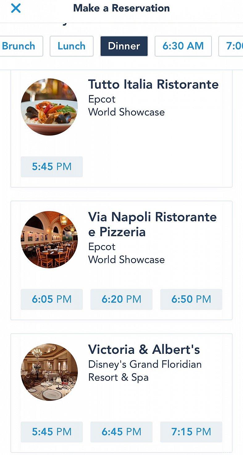試しに6ヶ月先の平日をアプリで検索してみました。これくらい先だと予約は取れるようですね。1日3回レストランに入店出来る次回があるようです。僕の予約時間は一番遅い入店時間だったんですね。