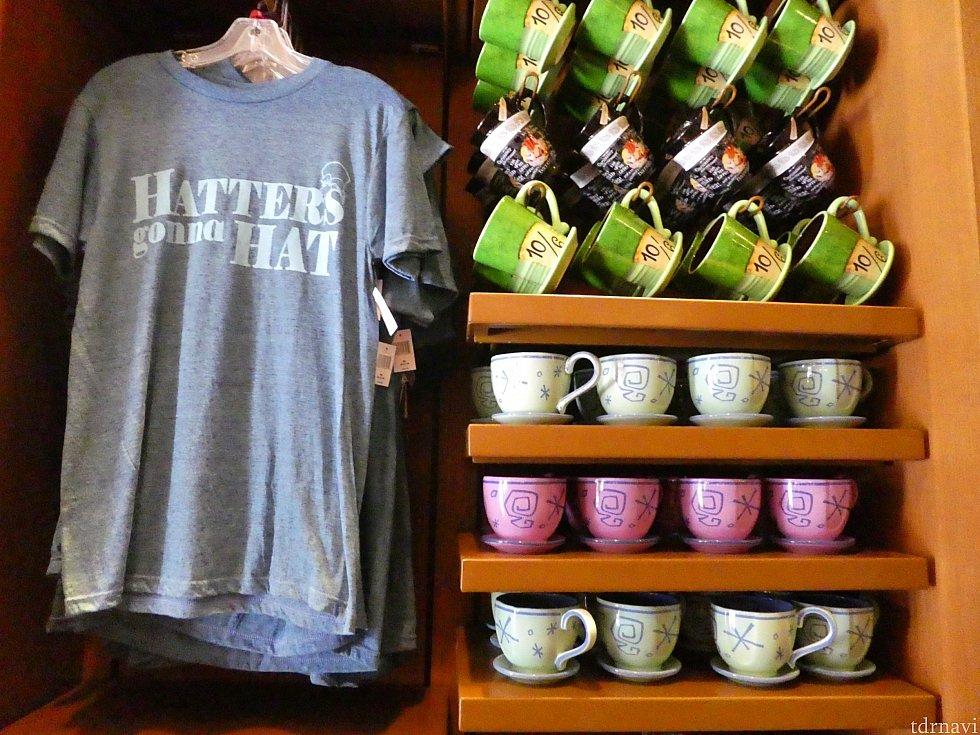 渋めのマッドハッターTシャツやカップ