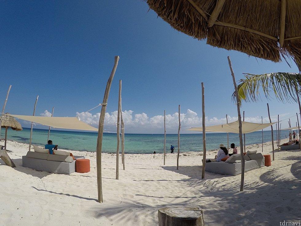 本当に美しいビーチです…これがインスタ映えってやつかぁ〜っと思って動画撮ってました。写真は全部GoPro動画のトリミングです。
