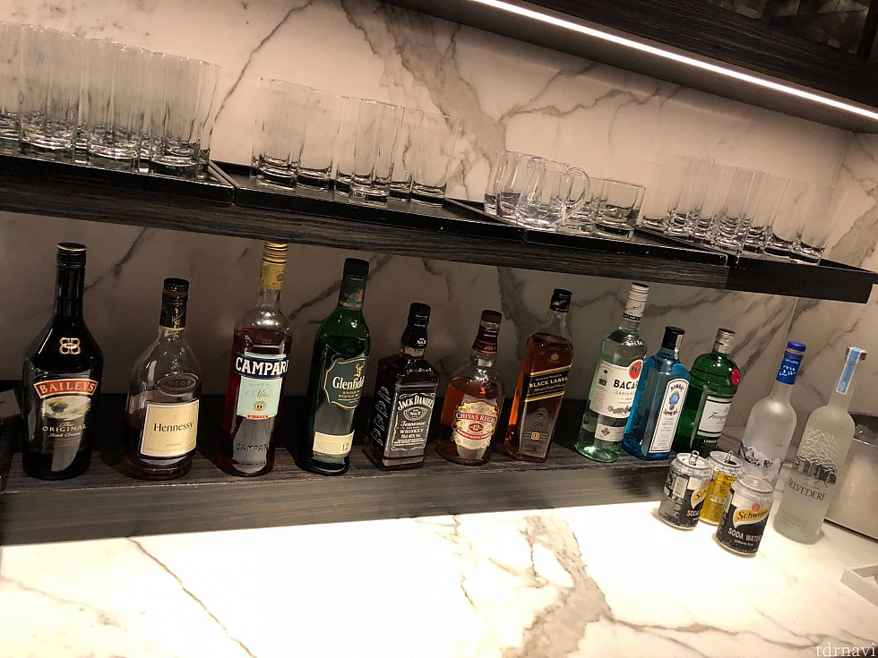 アルコールの種類も豊富