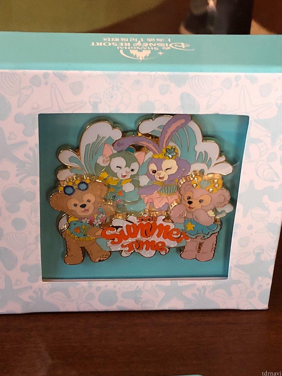 箱入りのダッフィー&フレンズピン(限定300) 249元