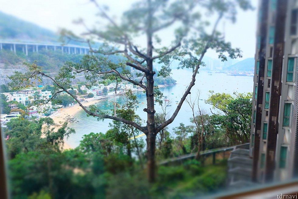 部屋からの景色も落ち着いていてビーチっぽいとこも見えた!