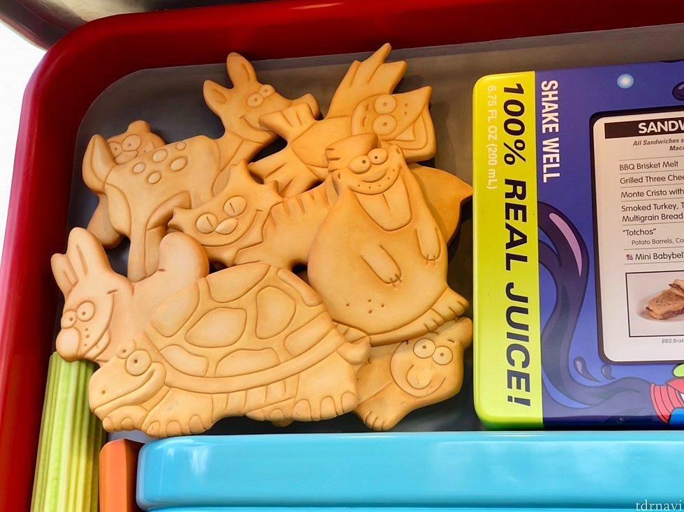 反対側には動物クッキー。この動物達はトイストーリーマニアに登場しますね!