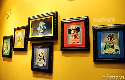 それぞれのキャラクターの役割が入口付近の写真で紹介されています。