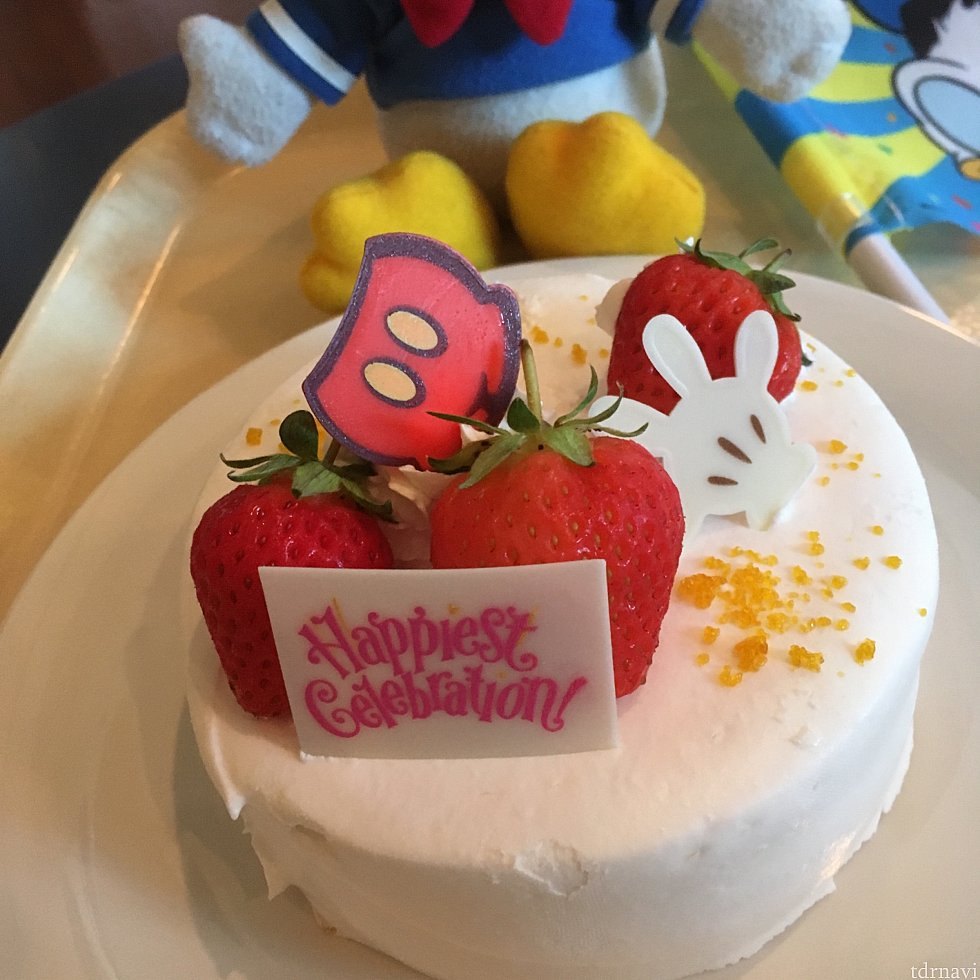 ドナルドの誕生日プログラムに参加していたので、スペシャルケーキを注文!