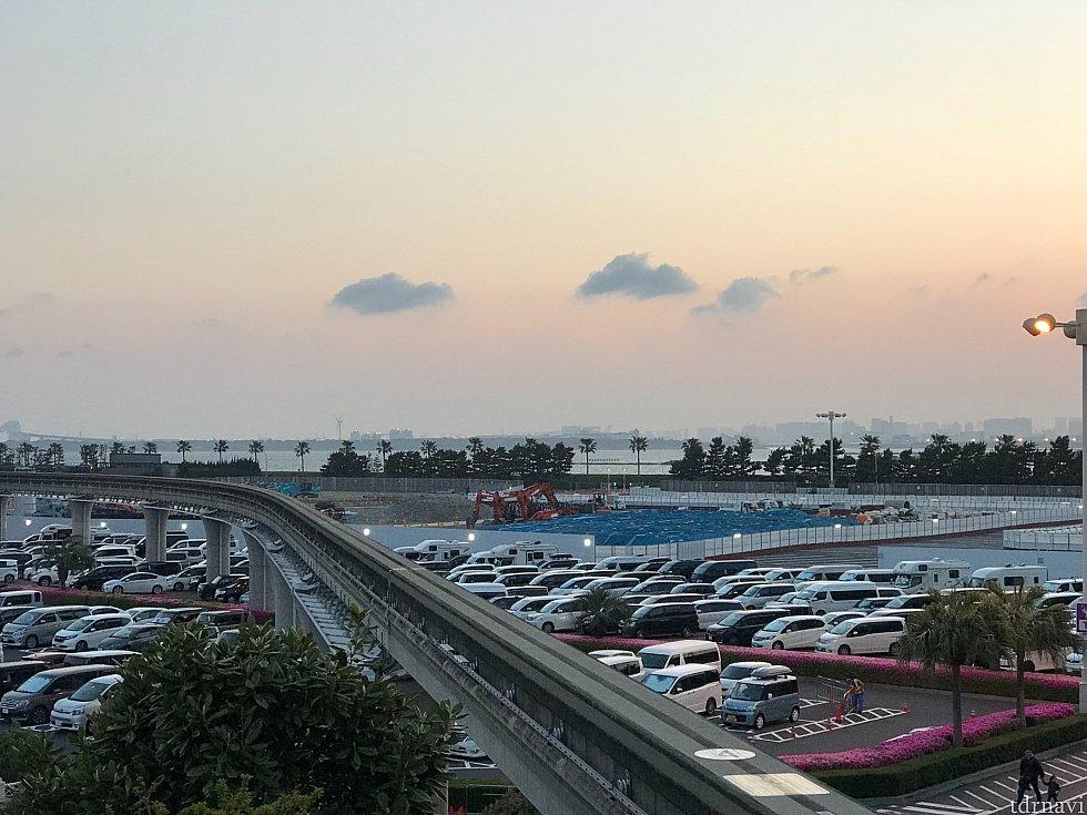ランド駐車場は立体化工事の影響で大幅縮小。