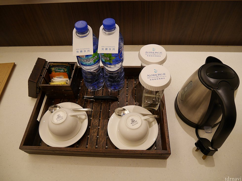 お水とお茶セット