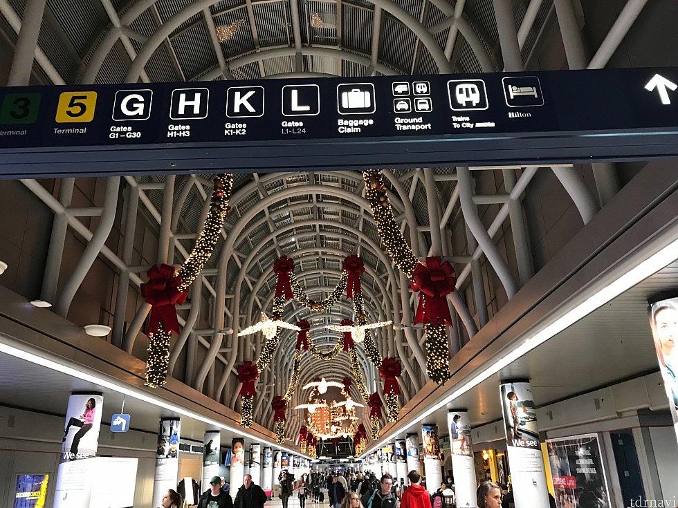 シカゴ空港です