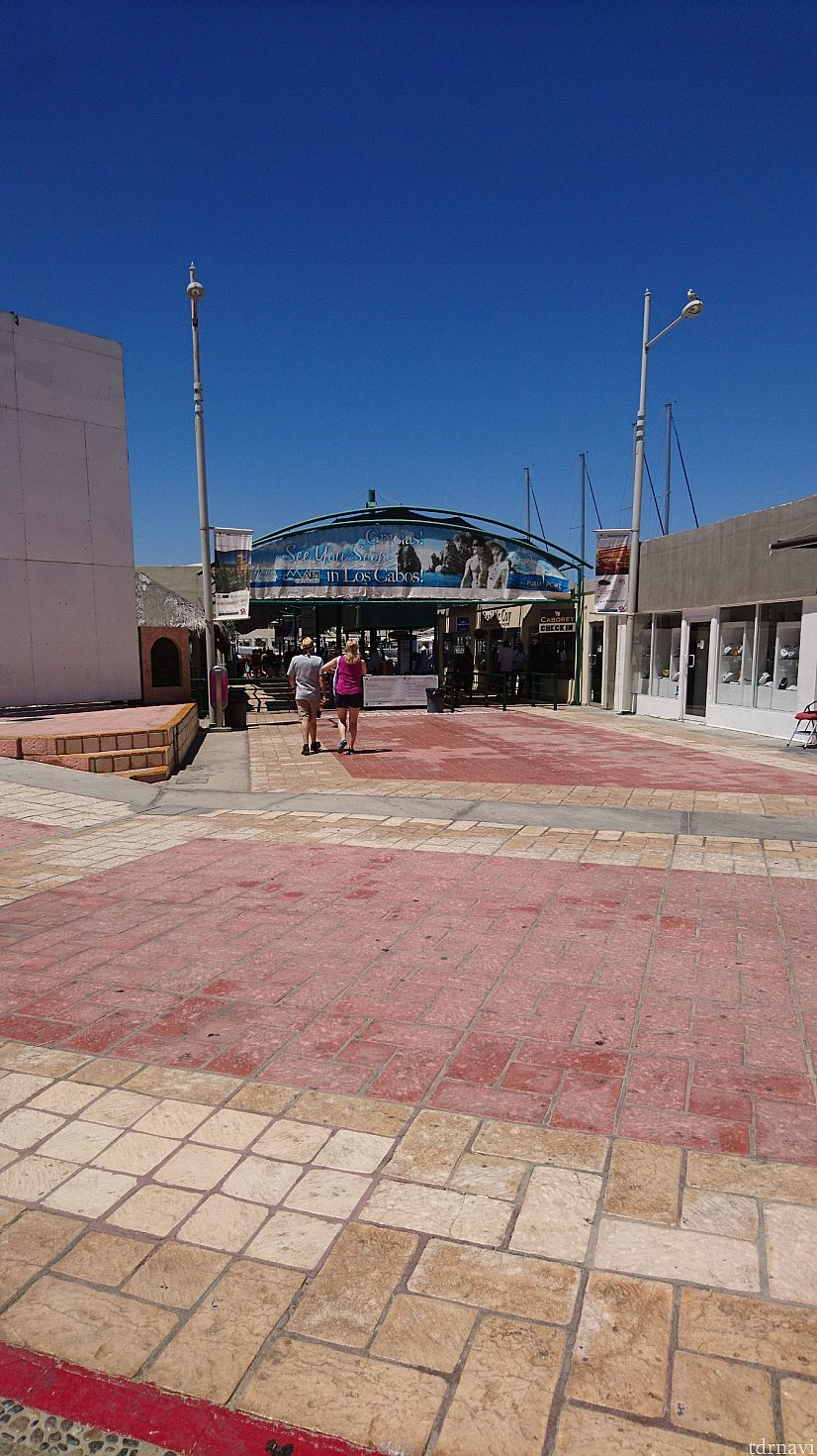 1番大きな船着き場に着きました。ここを背に右折するとショッピングモールなどがあります。