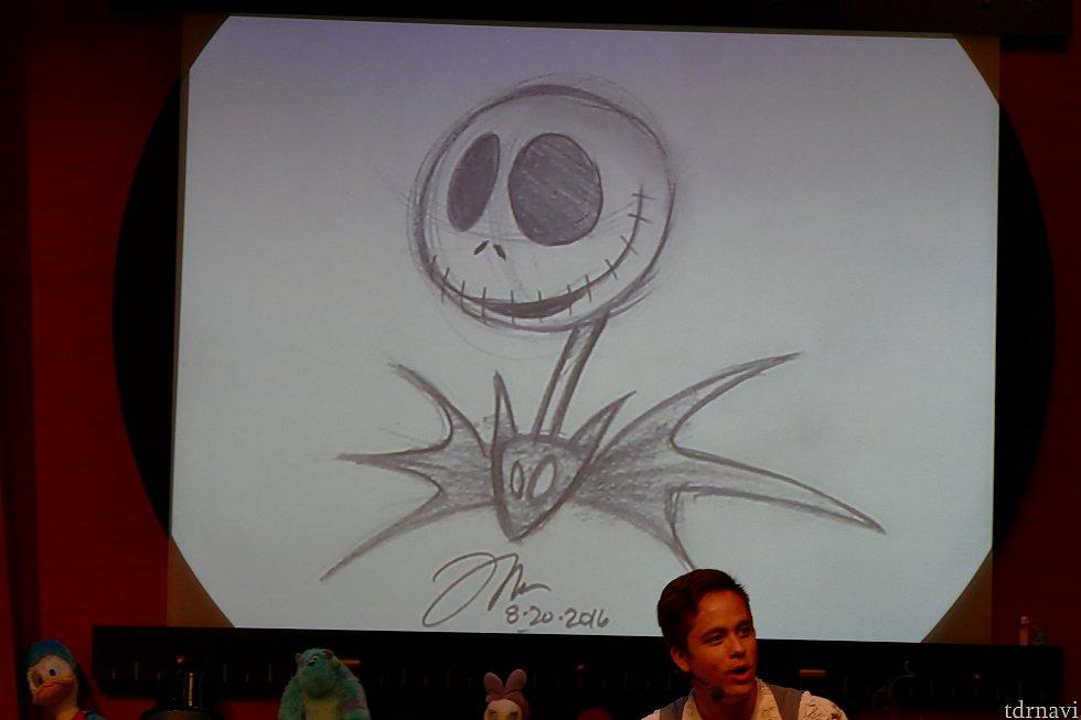 こちらアニメーターさんが描いたジャック!かっこいい〜!!!!