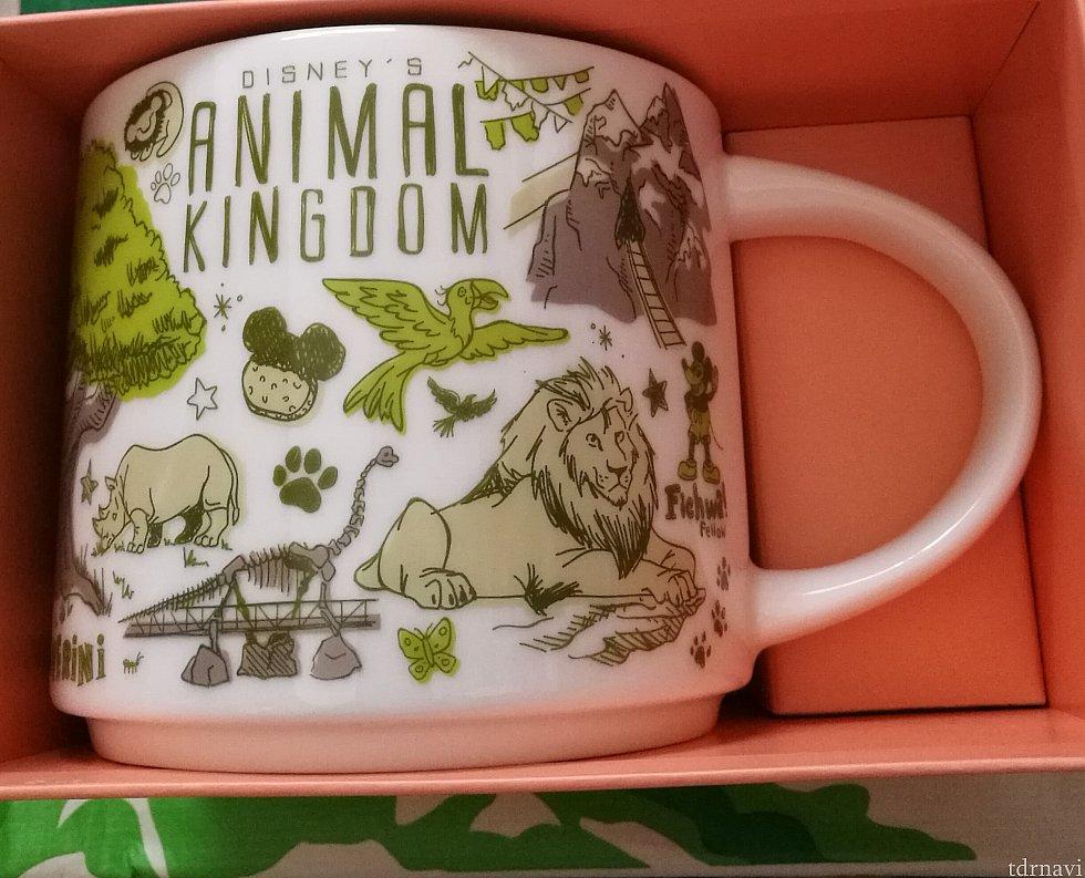 アニマルキングダム。エクスペディションエベレスト、キリマンジャロサファリで出会える動物たちが描かれています。