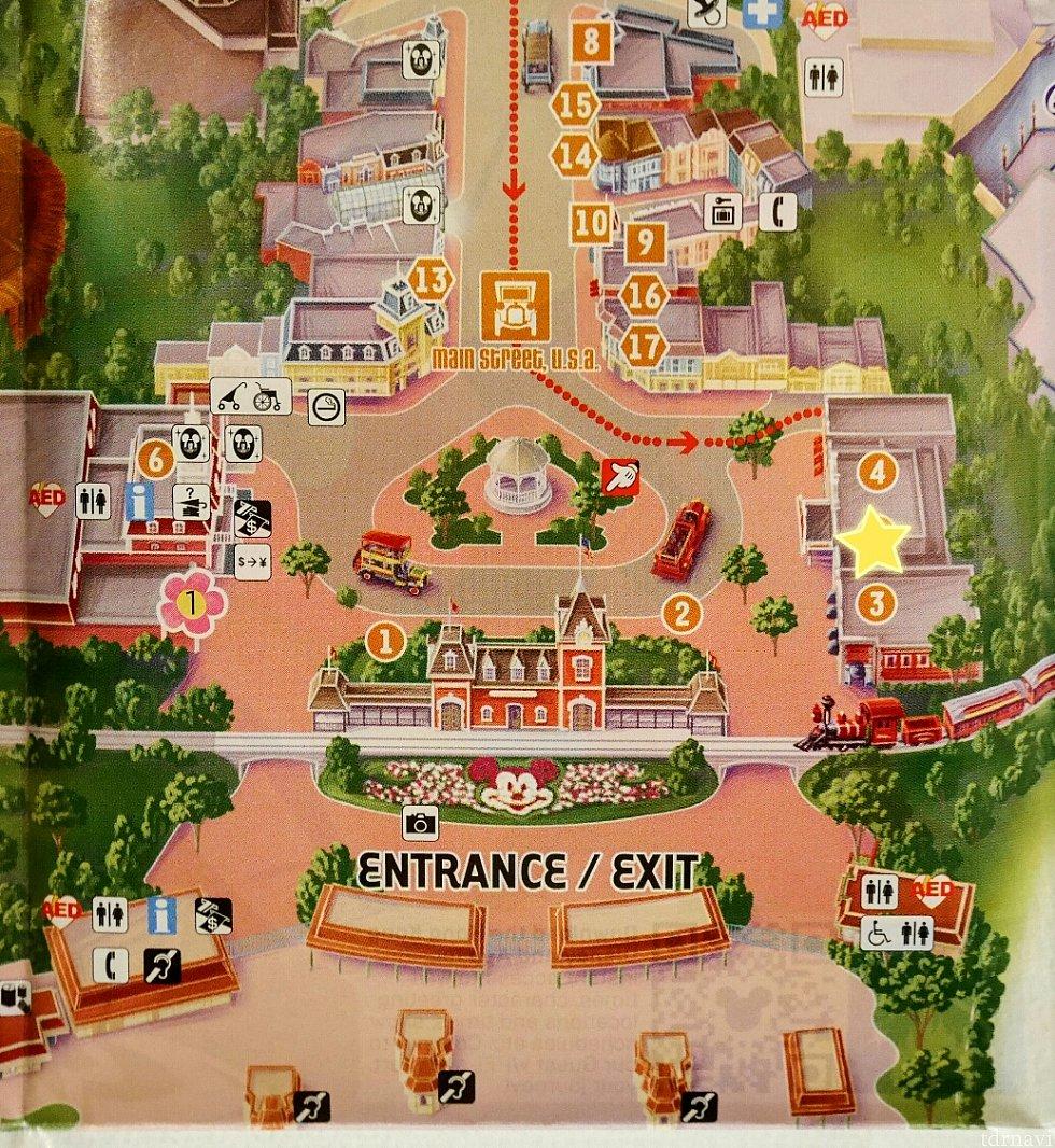 販売はホテルのフロントまたは、パーク内の☆マークのある年パスサービスセンターで購入できます。