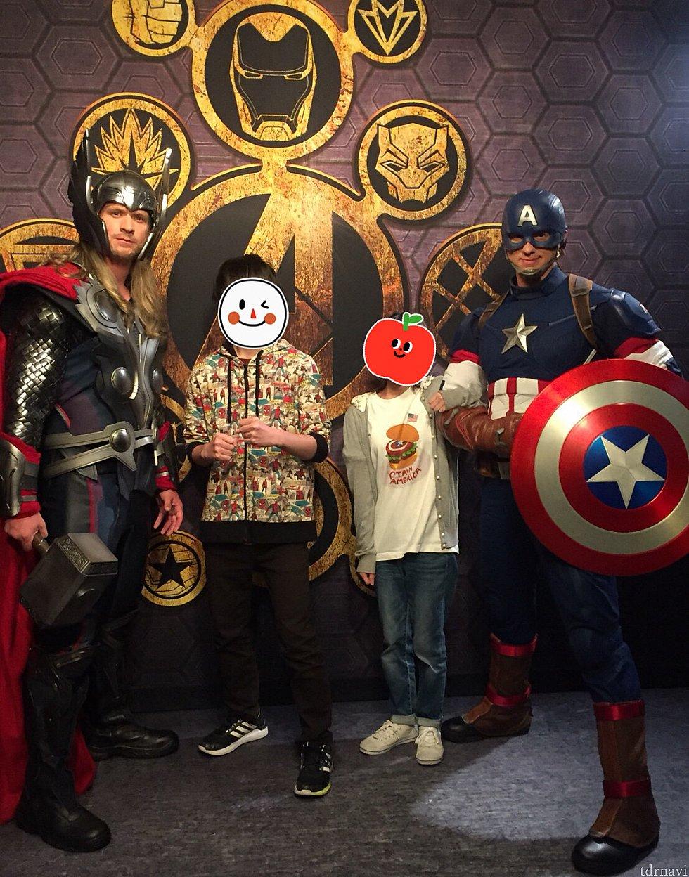 ソー、キャプテンアメリカ ソーは高身長でガッチリでかっこよすぎ!