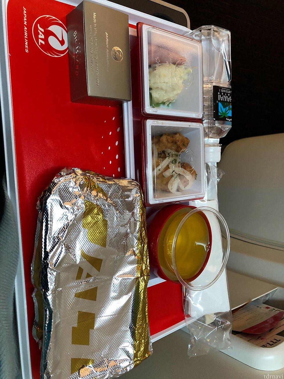 帰りの機内食は、キーマカレーにしました♪