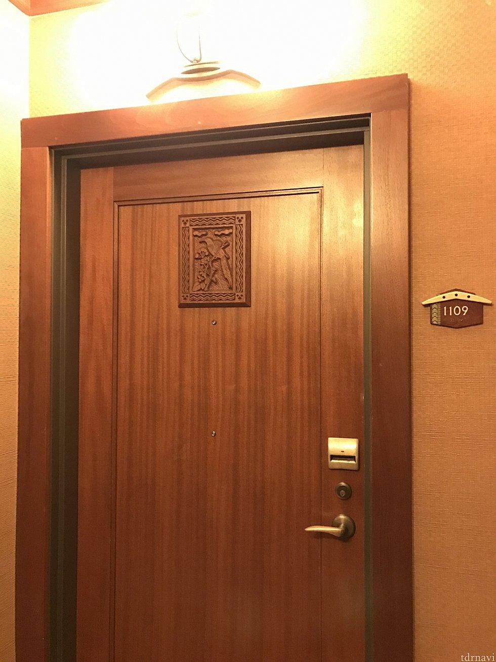 11階の1109号室。この階は奇数部屋がハズレのオーシャンビューっぽい