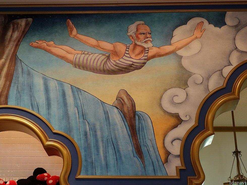 ショップの壁画