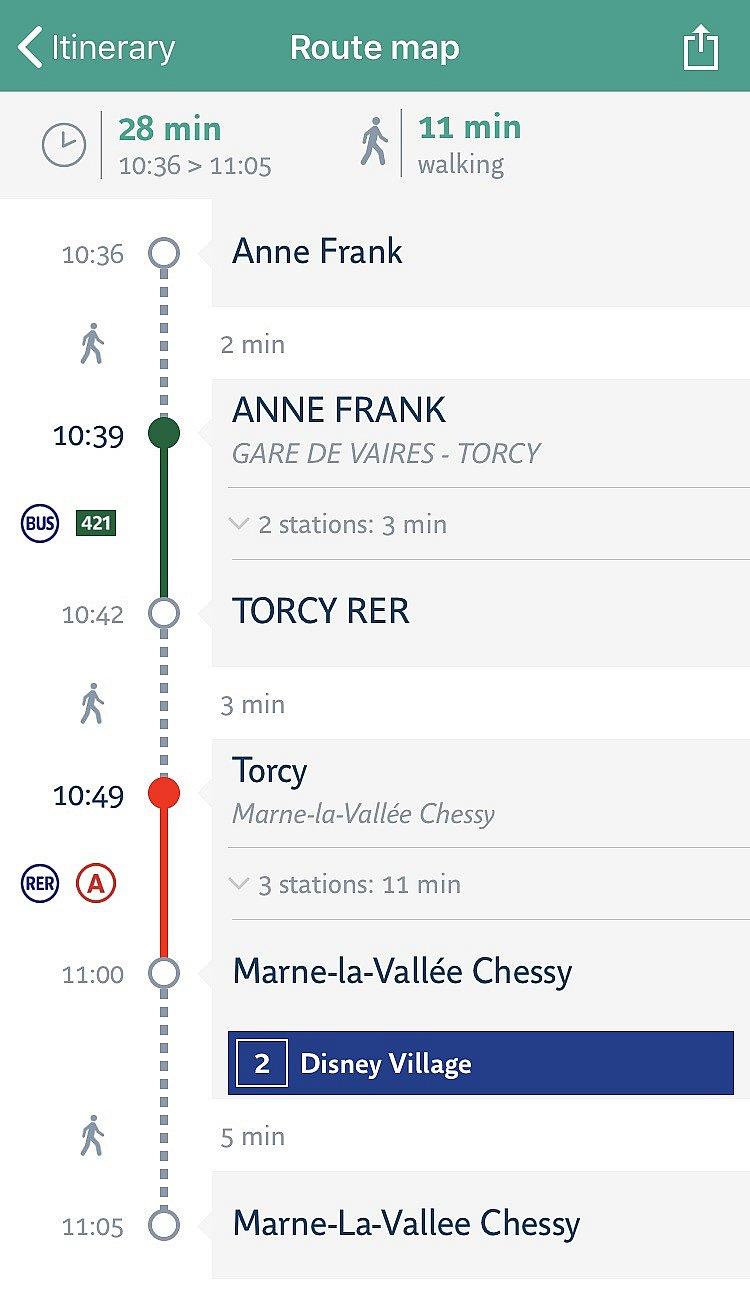 下にスクロールします 検索内容によっては駅の最寄り出口番号も表示されます