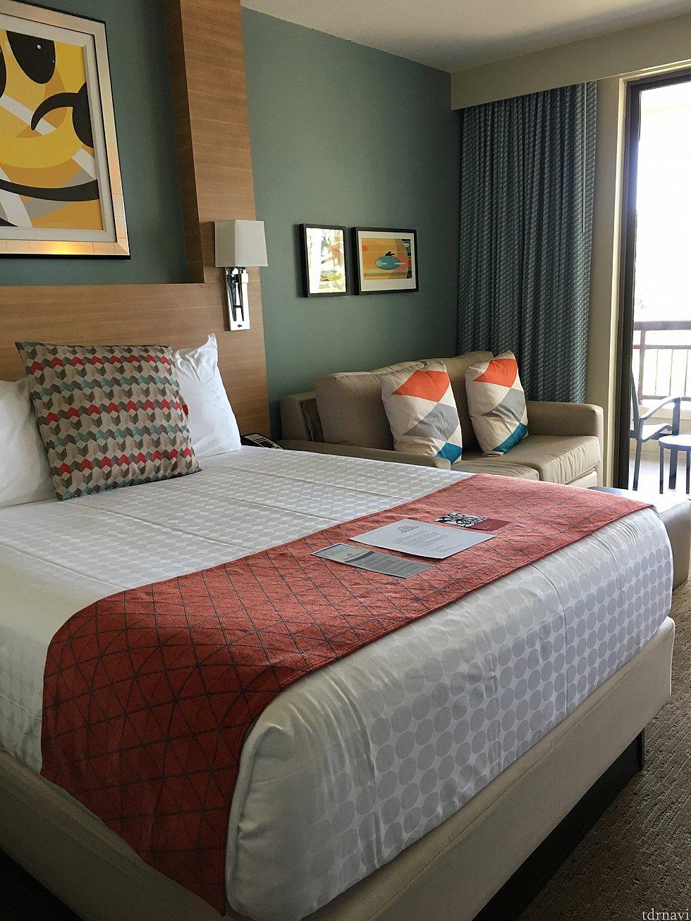 キングサイズのベッド