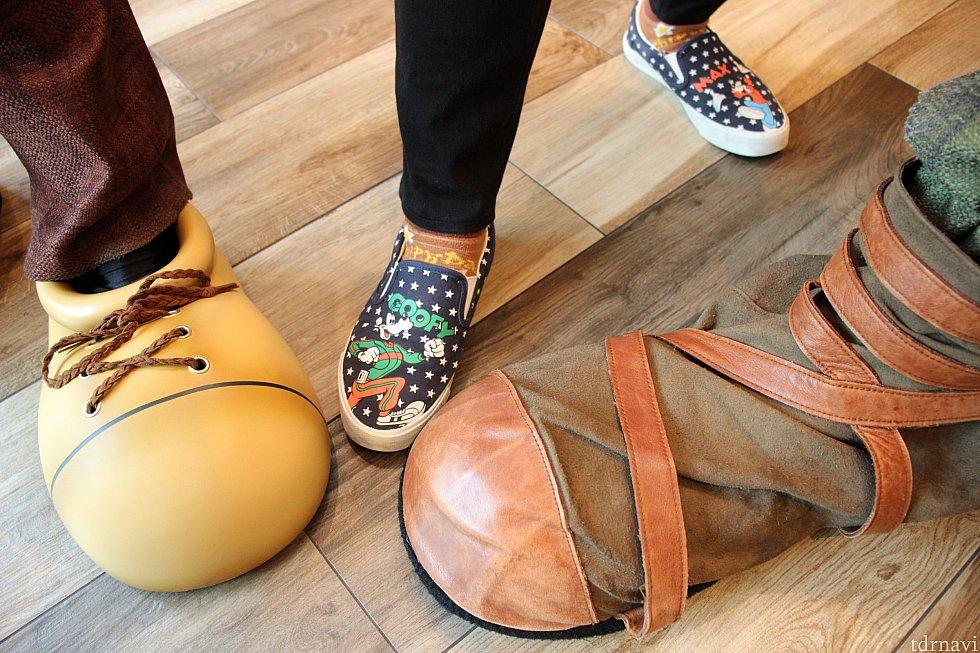 グーフィーが私の靴をみて「撮ろう!」と言ってくれました♡
