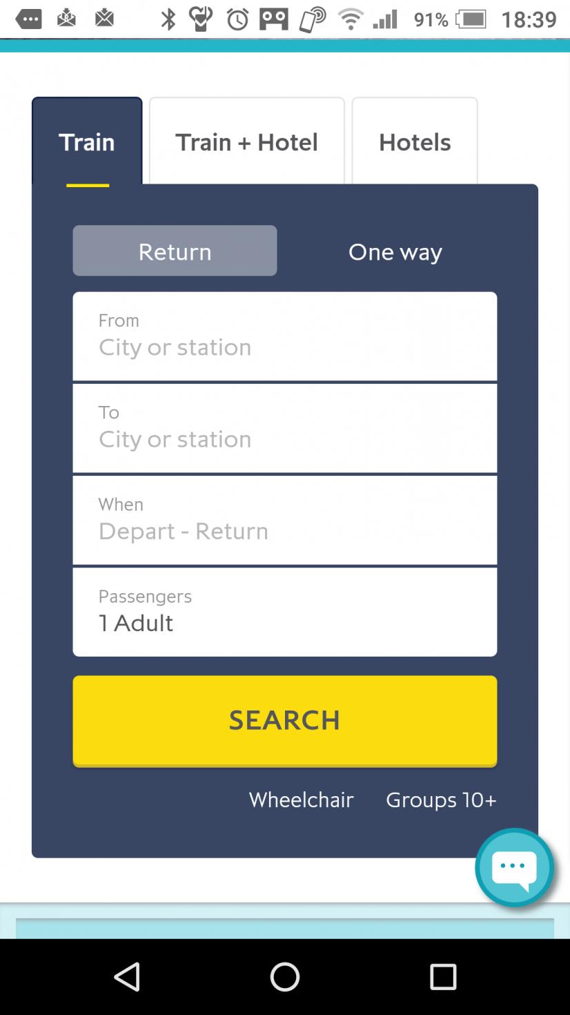 往復(return)か片道(one way)かを聞かれます。 片道なのでone wayを選択して 駅名を選択。 London St. Puncrasは選択肢にありますが Disneyland Parisは選択肢に無いので、入力してください。