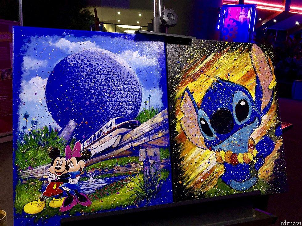 続いてはランダムなアーティストによる、ディズニーパークに関連した作品をご紹介します。