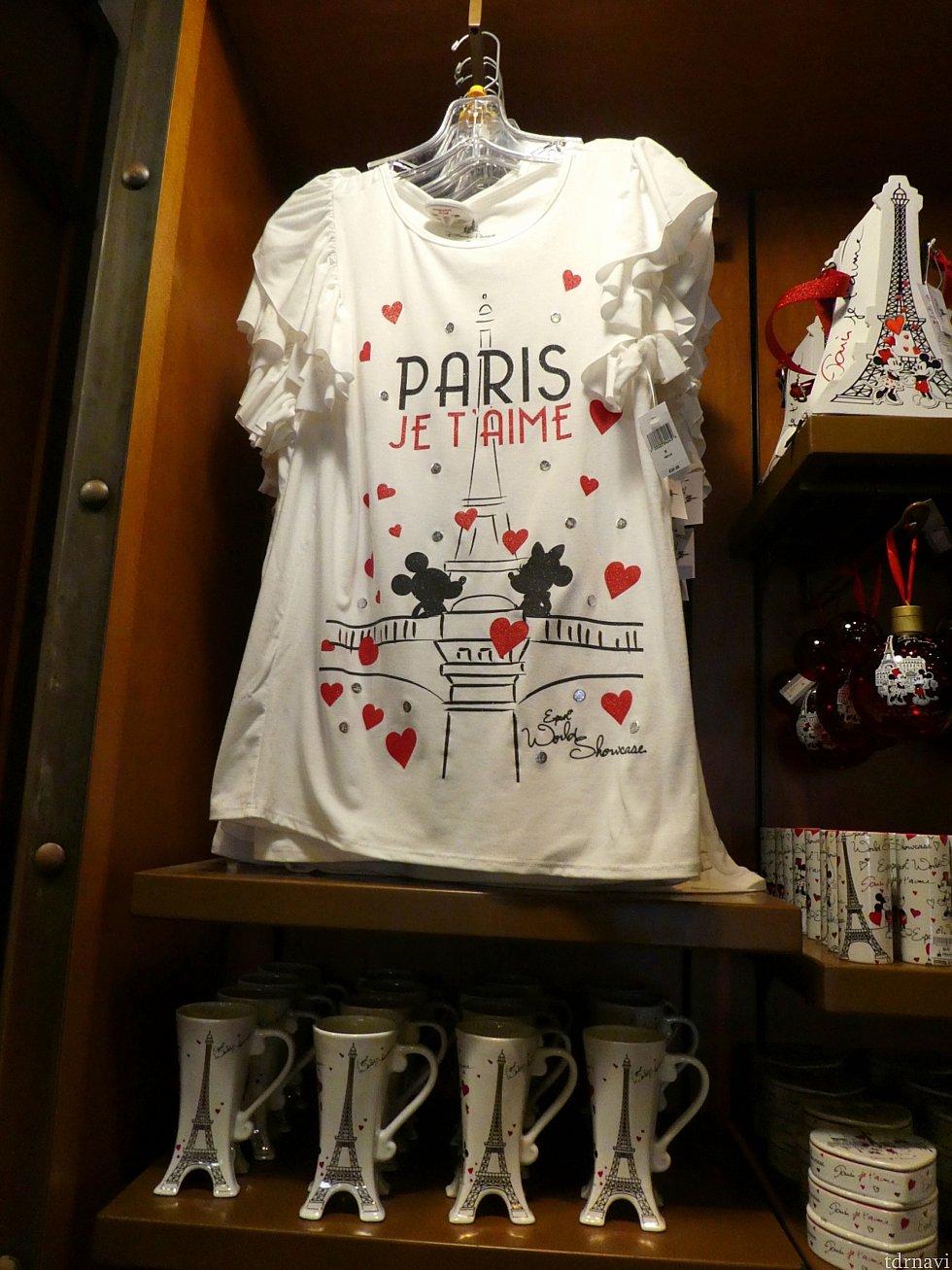 パリでデートするミッキーとミニーグッズはデザインもかわいくて素敵なものが多かったです。