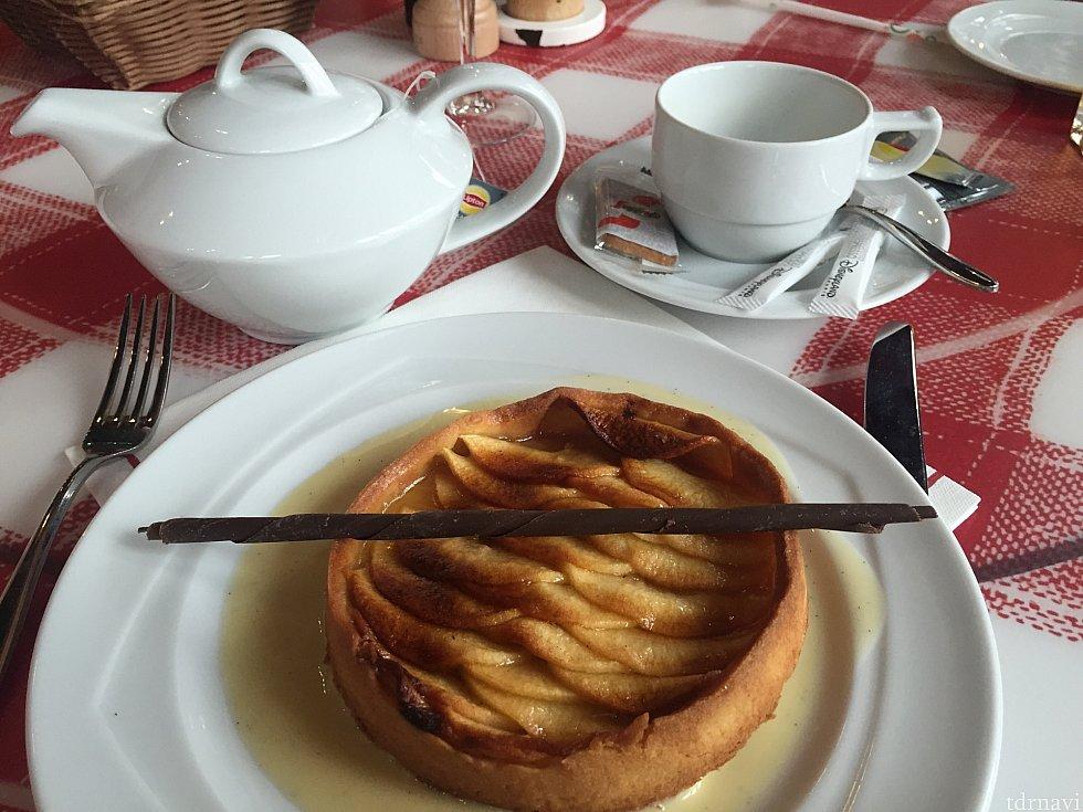 単品のアップルパイも美味