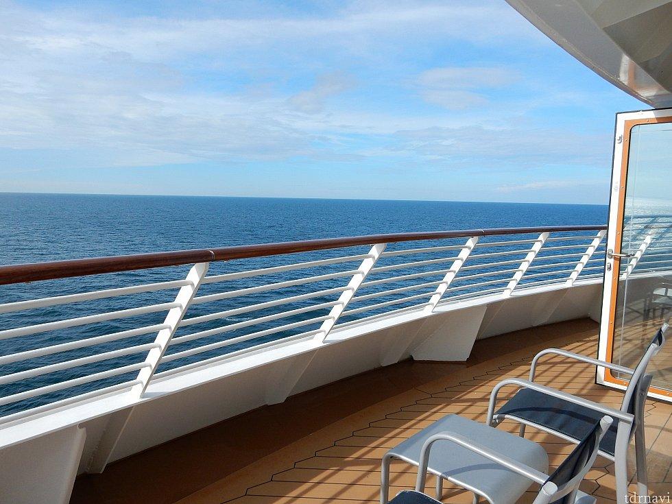出航後はこんな景色を独り占め。
