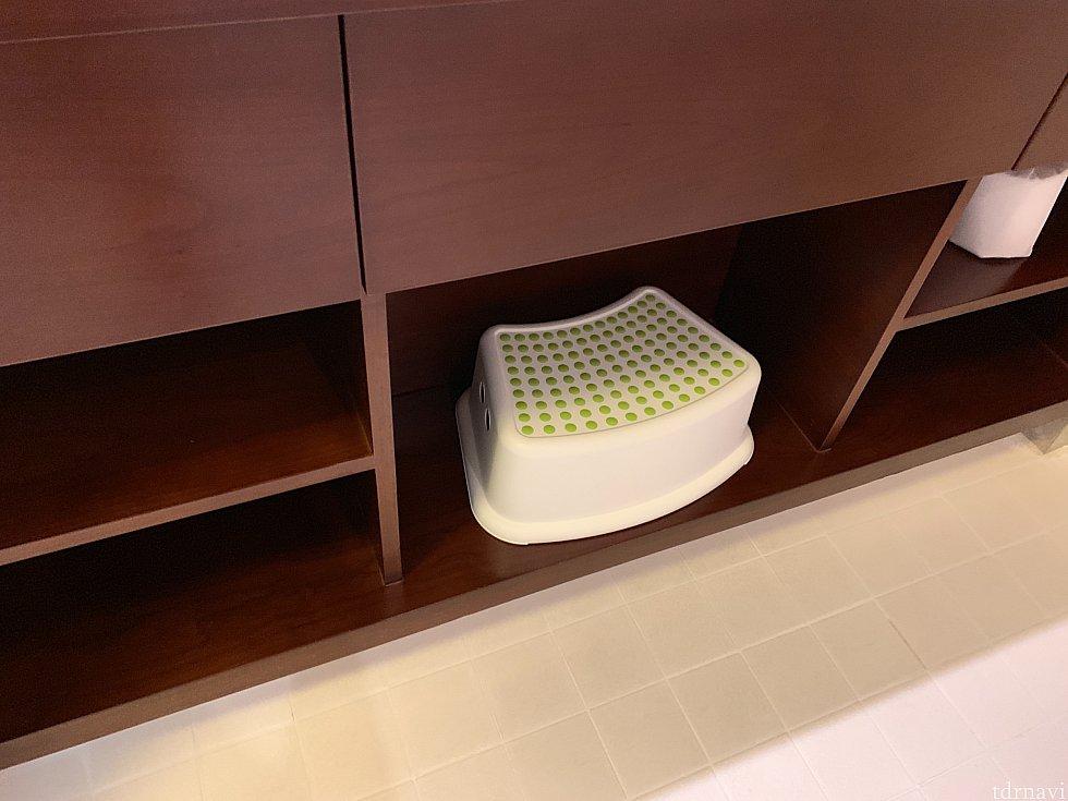 洗面台の下には踏み台がありました。 (IKEAの?)