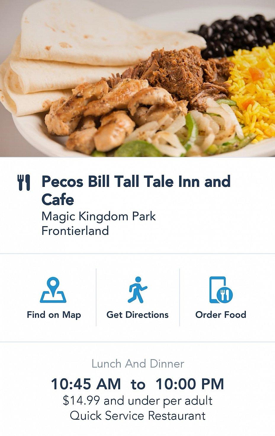 レストランの場所や料理ジャンルの確認ができます。注文に進むときは右のorder food