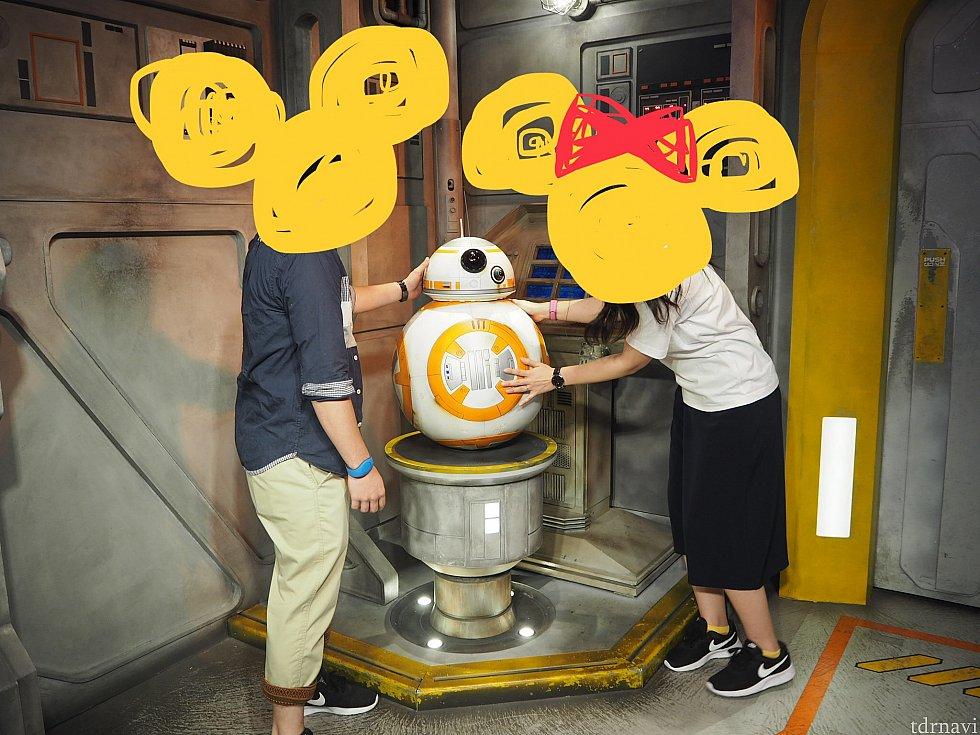 BB-8かわいい! サイズ感伝わるでしょうか、ほんとに可愛い!