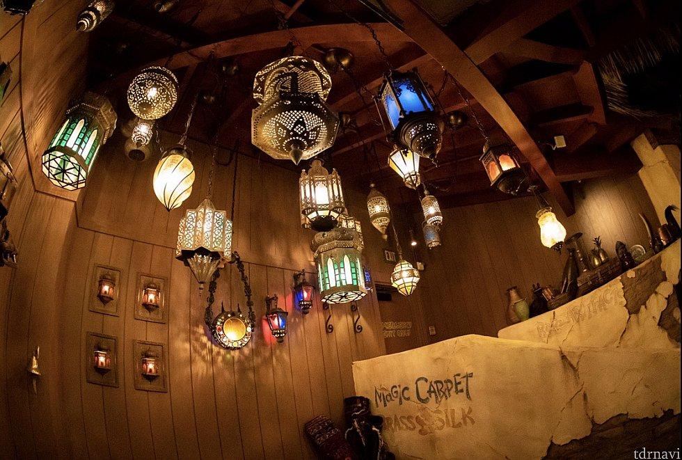 ランプがとても綺麗でした。 夜オススメです!