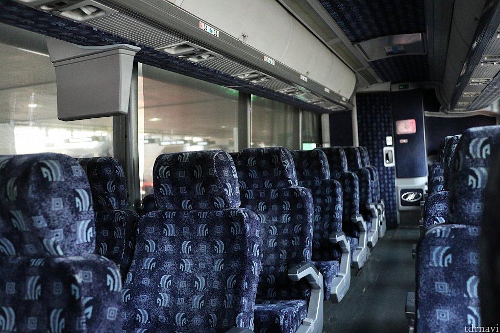 中はいたって普通のバス。行きも帰りも空いていました。