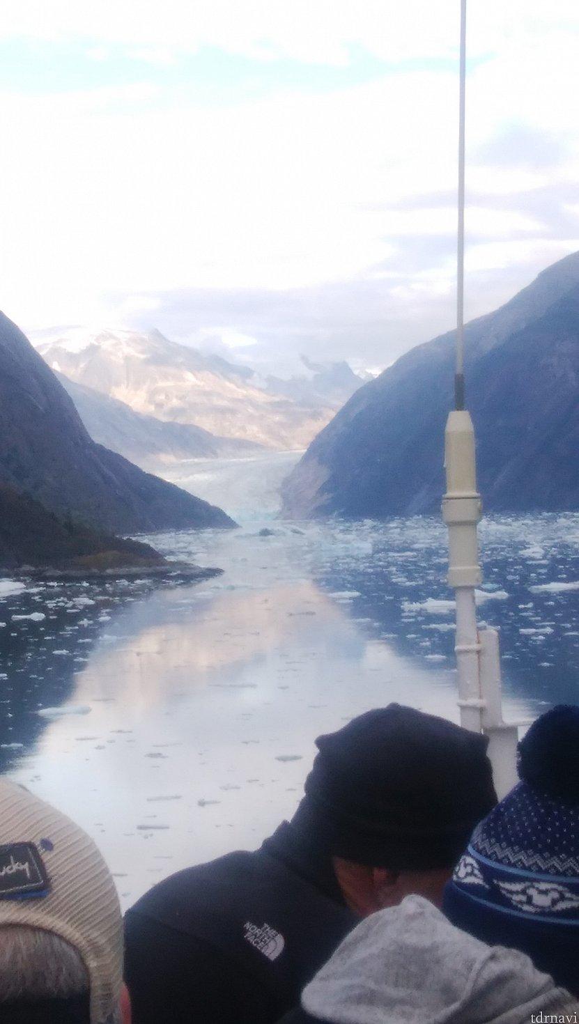 午後は船から、ソーヤー氷河鑑賞