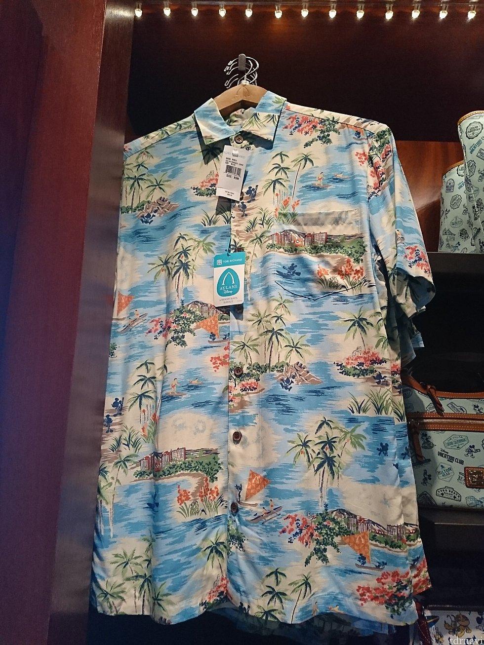 男性用アロハシャツは80ドル。