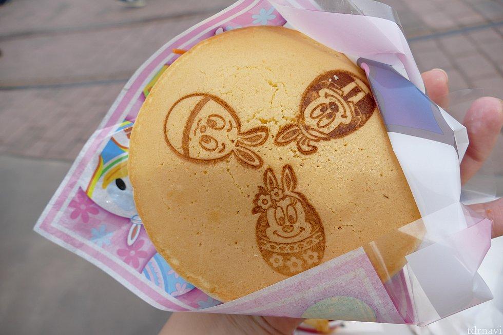 パンケーキに可愛すぎる焼き印が・・・!何処までも凝ってる♪