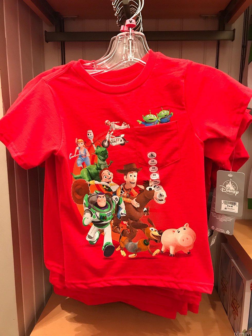 トイストーリー 4 のTシャツ