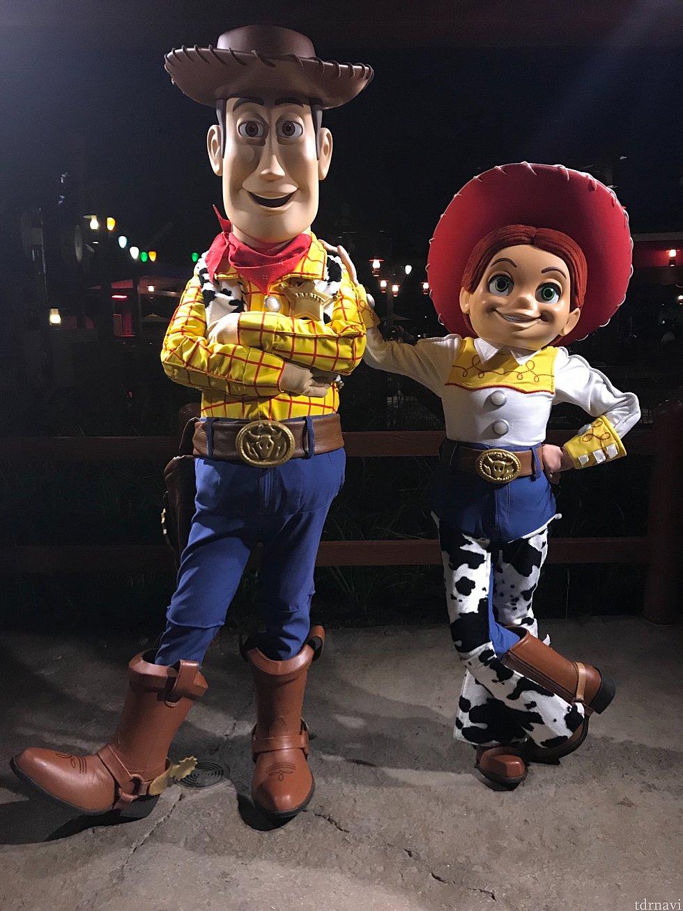 ウッディとジェシーはトイストーリーランドにいましたっ!