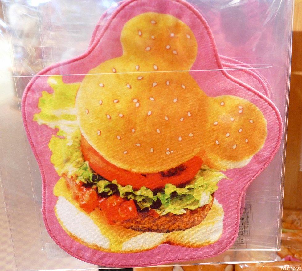 ミッキーバーガーのハンドタオル! 650円でこんなに可愛い💖