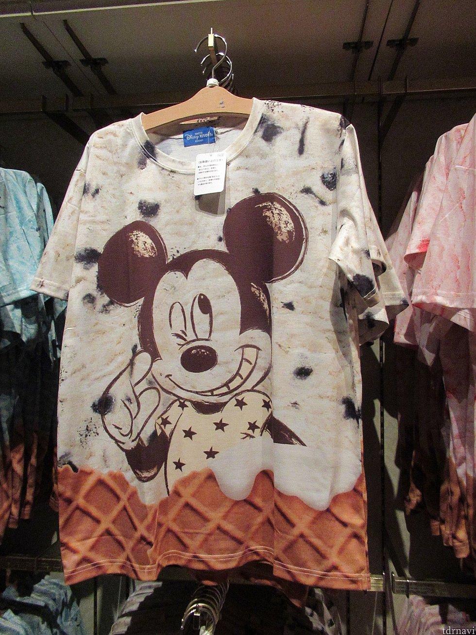 ミッキーアイスクリームTシャツ 3900円