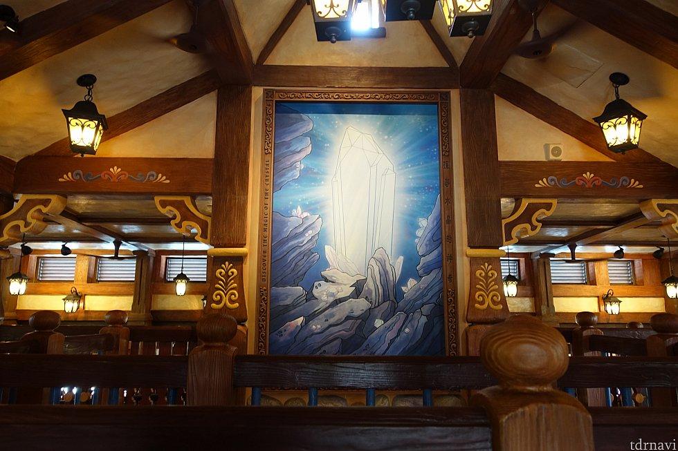 クリスタルの巨大絵画